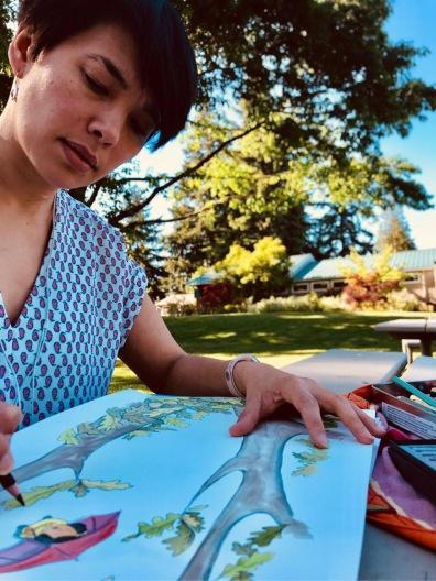 Ellie painting
