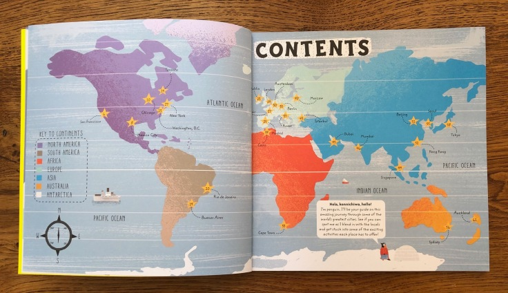 Big City Atlas by Maggie Li Pavilion Books World Map Contents Page