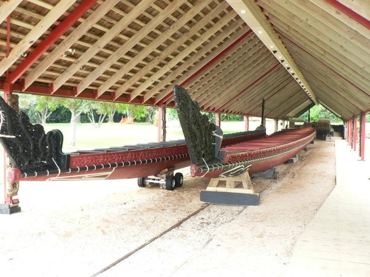 Maori Canoes Wakas in Waitangi Northland New Zealand