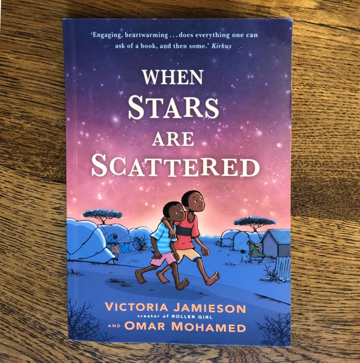 When Stars Are Scattered by Omar Mohamed Victoria Jamieson Cover