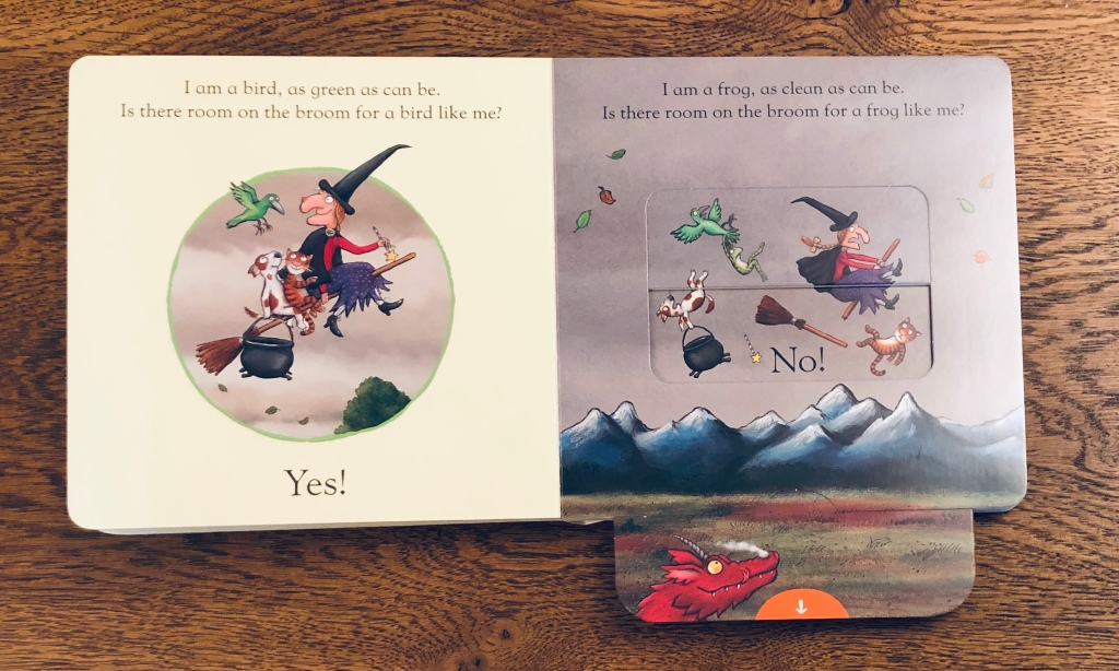 Room on the Broom: A Push, Pull and Slide Book by Julia Donaldson & Axel Scheffler
