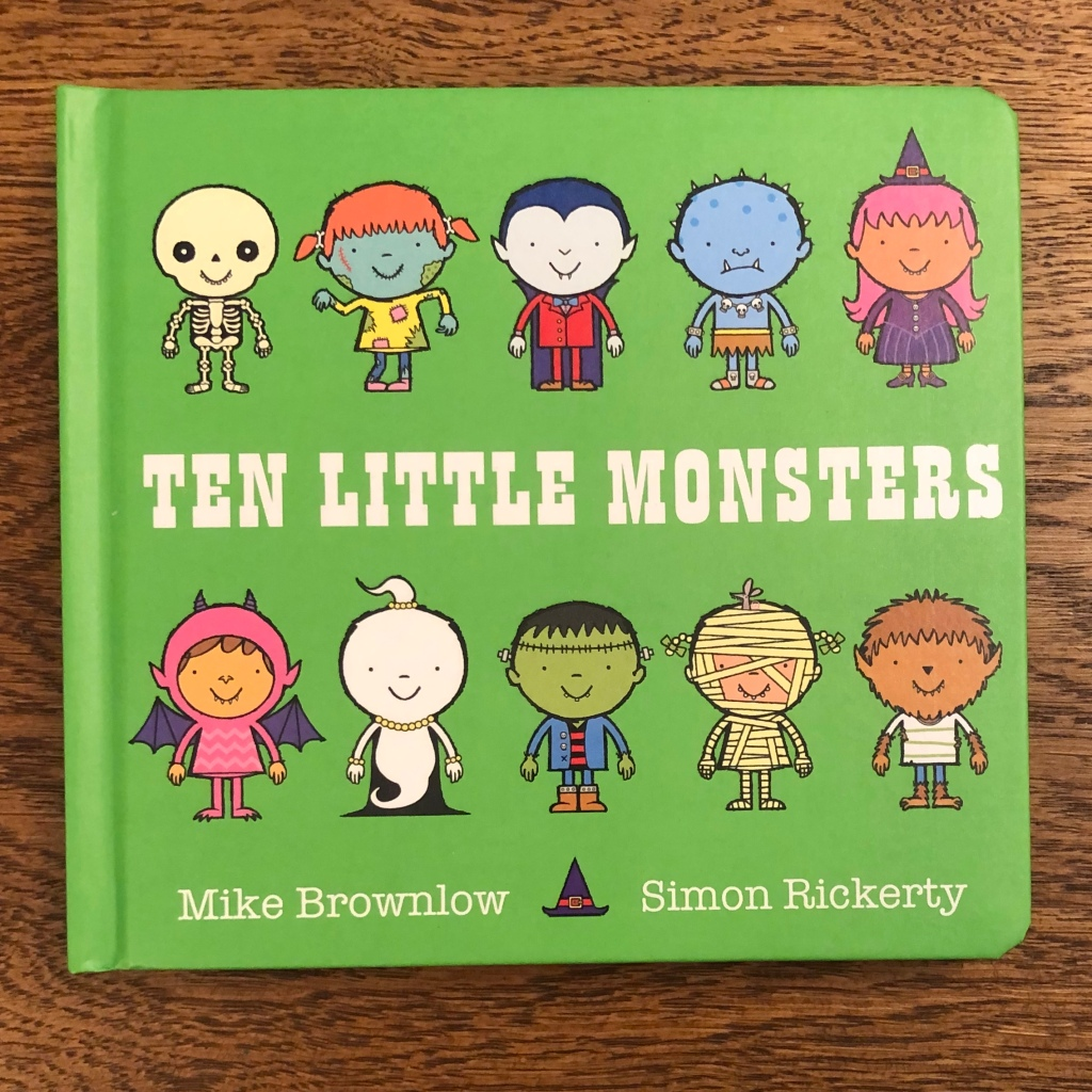 Ten Little Monsters Board by Mike Brownlow & Simon Rickerty