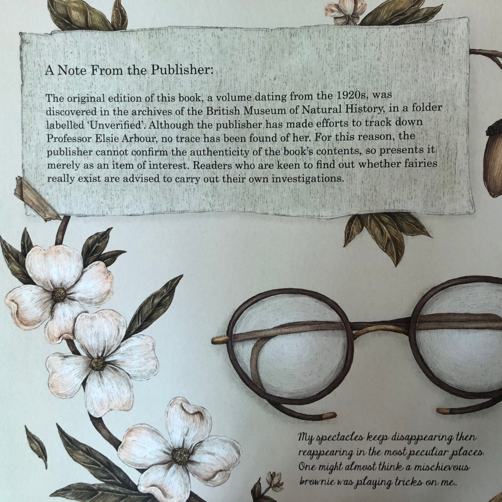 A Natural History of Fairies by Emily Hawkins & Jessica Roux Bontanist Professor Elsie Arbour