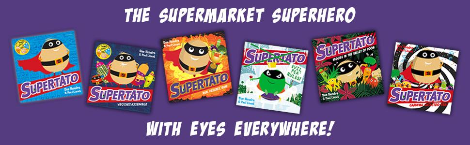 Supertato series by Sue Hendra & Paul Linnet board book cover
