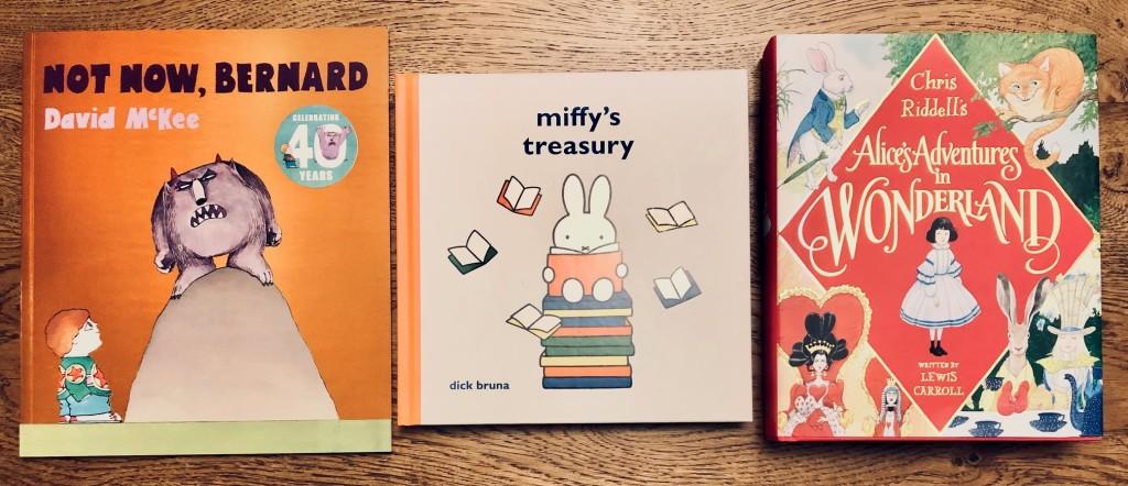 2020 Anniversary Classic Illustrated Books ~ Alice's Adventures in Wonderland ~ Not Now Bernard ~ Miffy