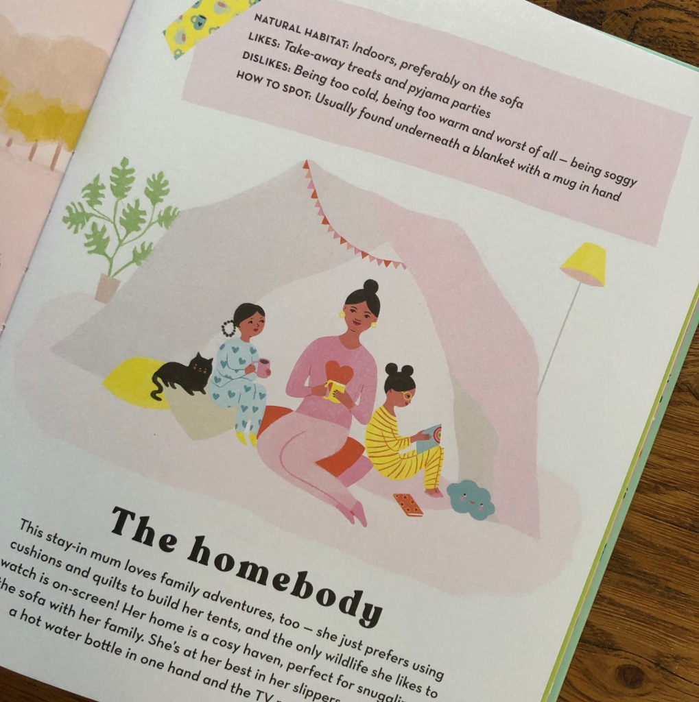 How to Spot a Mum by Donna Amey Bhatt and Aura Lewis The homebody mum