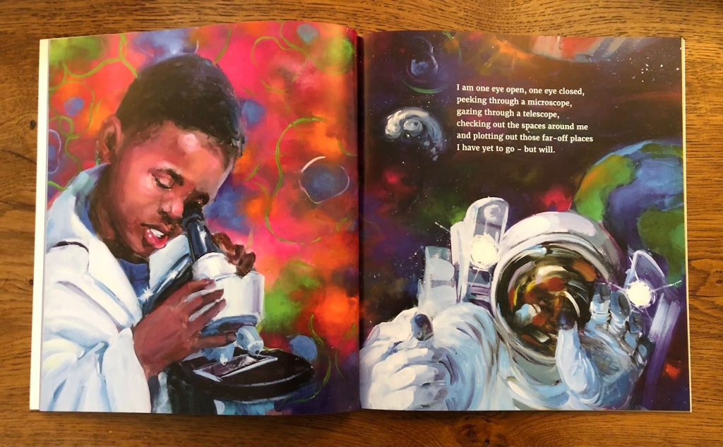 I Am Every Good Thing by Derrick Barnes and Gordon C James black boy astronaut scientist