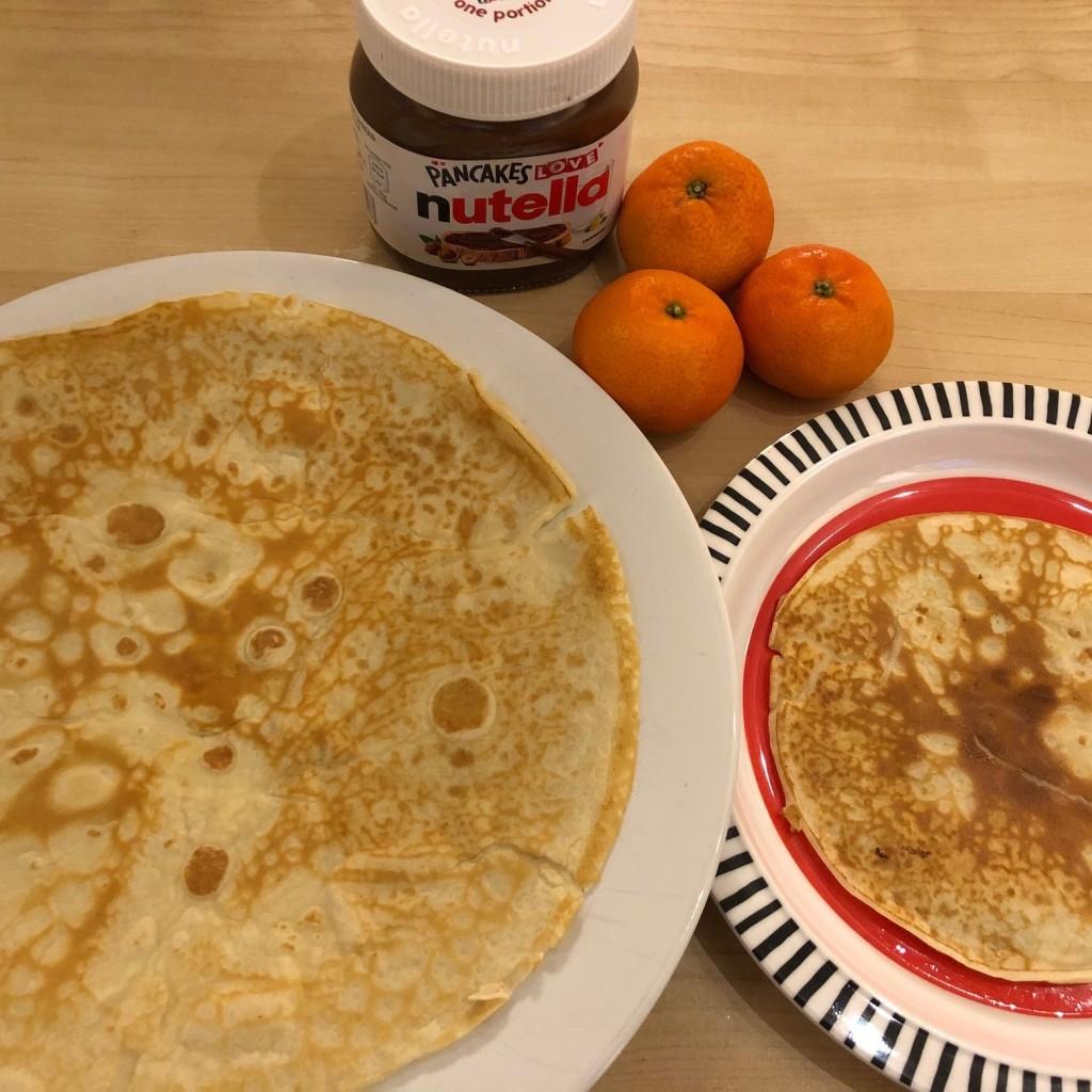 Chocolate nutella orange pancakes