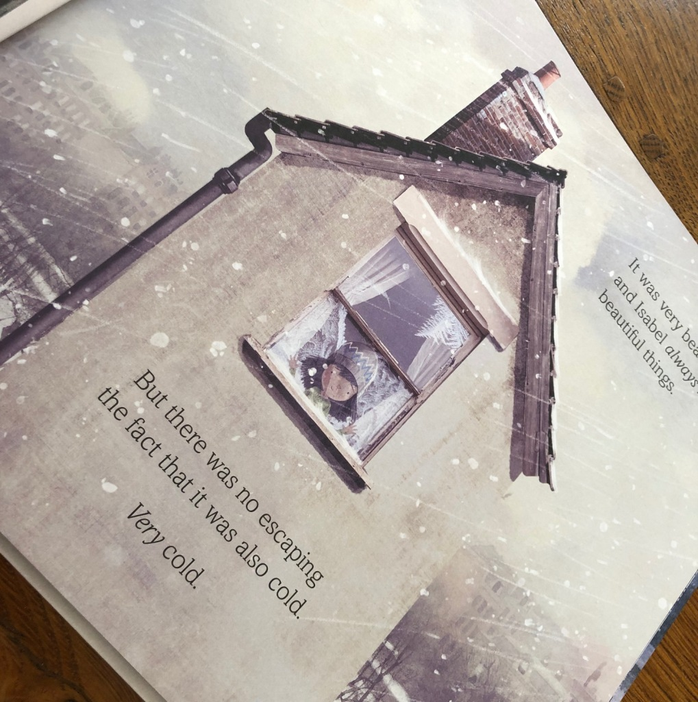 The Invisible by Tom Percival girl in freezing cold house