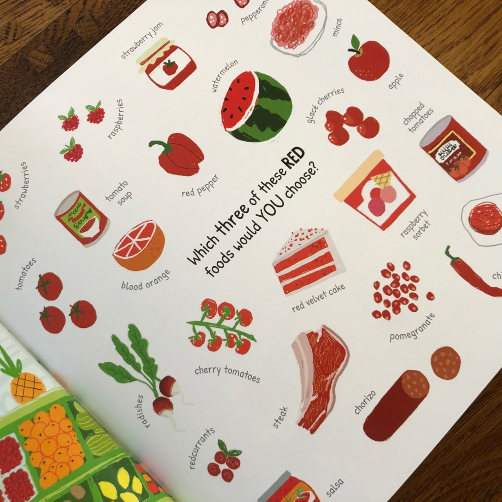 Which Food Will You Choose? by Claire Potter & Ailie Busby Bloomsbury Education lots of red foods