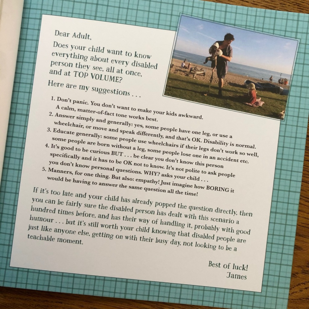 What Happened to You? by James Catchpole and Karen George Faber & Faber tips for parents if a child is curious about disability