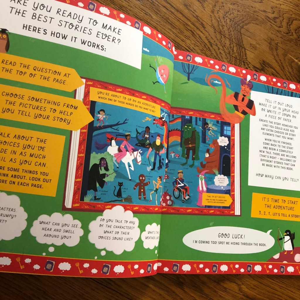 Let's Tell a Story: Fairy Tale and Space Adventure by Lily Murray and Wesley Robins & Grace Boruch how the book works