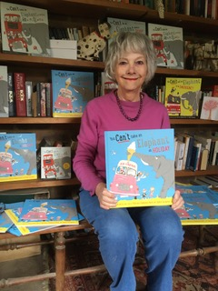 Patricia Cleveland-Peck, author of You Can't Take an Elephant on Holiday, illustrated by David Tazzyman