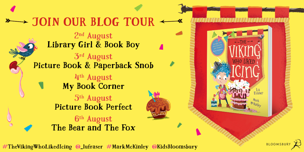 The Viking Who Liked Icing by Lu Fraser & Mark McKinley Bloomsbury tour card
